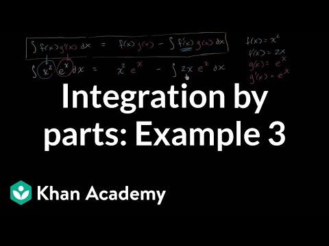 Integration by parts: ºx____dx | AP Calculus BC | Khan Academy