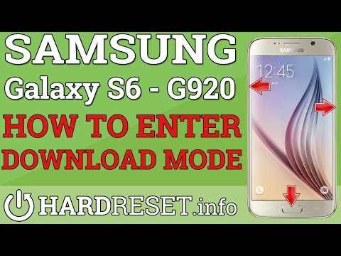 DOWNLOAD MODE SAMSUNG Galaxy S6 G920F - HOW TO ENTER