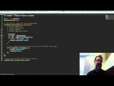 How to make a web crawler in javascript -