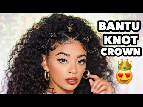 BANTU KNOT CROWN FOR THE CURLS! | jasmeannnn