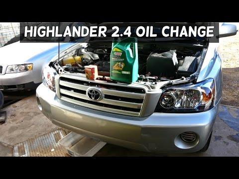 TOYOTA HIGHLANDER 2.4 OIL CHANGE | How to Change Engine Oil