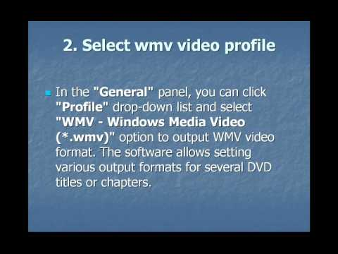 How to convert DVD to WMV for Windwos Media Player on Mac