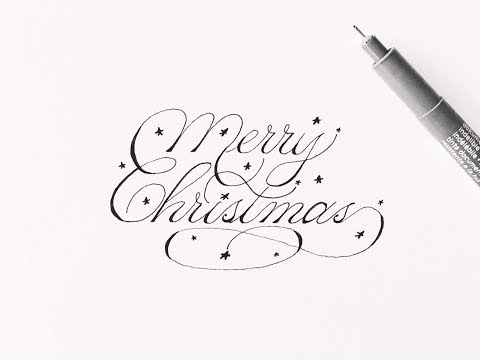 how to write merry christmas | cursive fancy letters for beginners