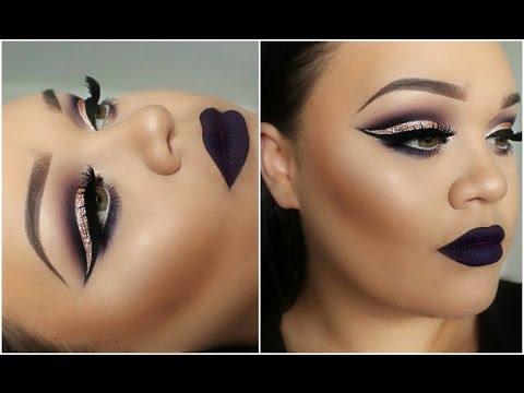 Dramatic Cut Crease & Dark Matte Lips | Makeupwithjah