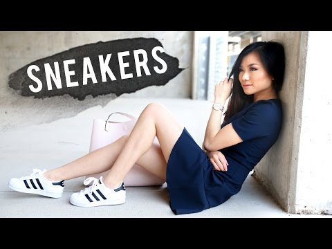 How to Wear Sneakers | Adidas Superstar 2 Lookbook | How to Style Adidas Superstar | Miss Louie