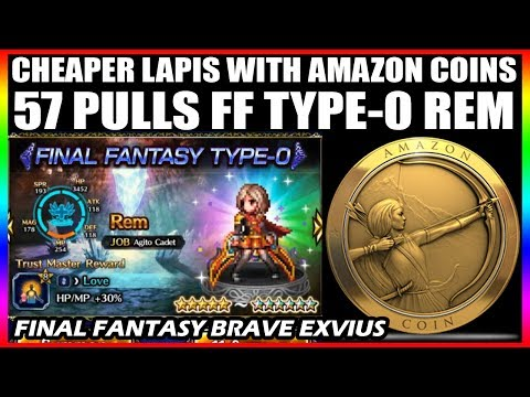 57 Pulls Final Fantasy Type-0 Rem Banner & Buy Lapis Cheaper With Amazon Coins (FFBE Global)