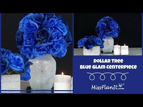 Dollar Tree Inspired Blue Glam Centerpiece | DIY Budget Decor | DIY Tutorial