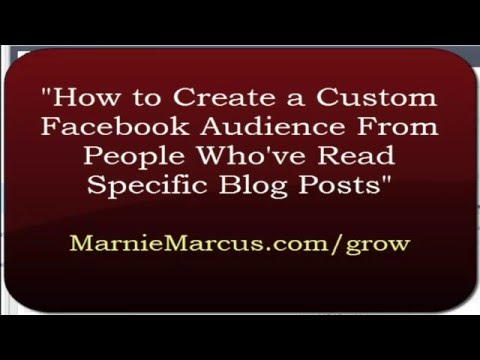 How to Create a Custom Facebook Audience From Visitors to Blog Topics