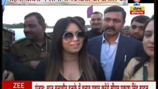 Actress Mahima Chaudhary visits Faridabad to promote PM's clean India mission