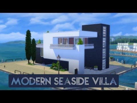 Sims 4 | House Building | Modern Seaside Villa