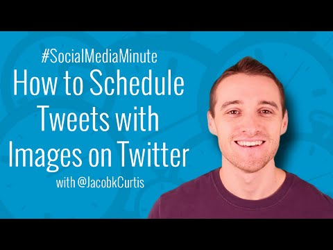 [HD] How to Schedule Tweets with Images Using Twitter - #SocialMediaMinute