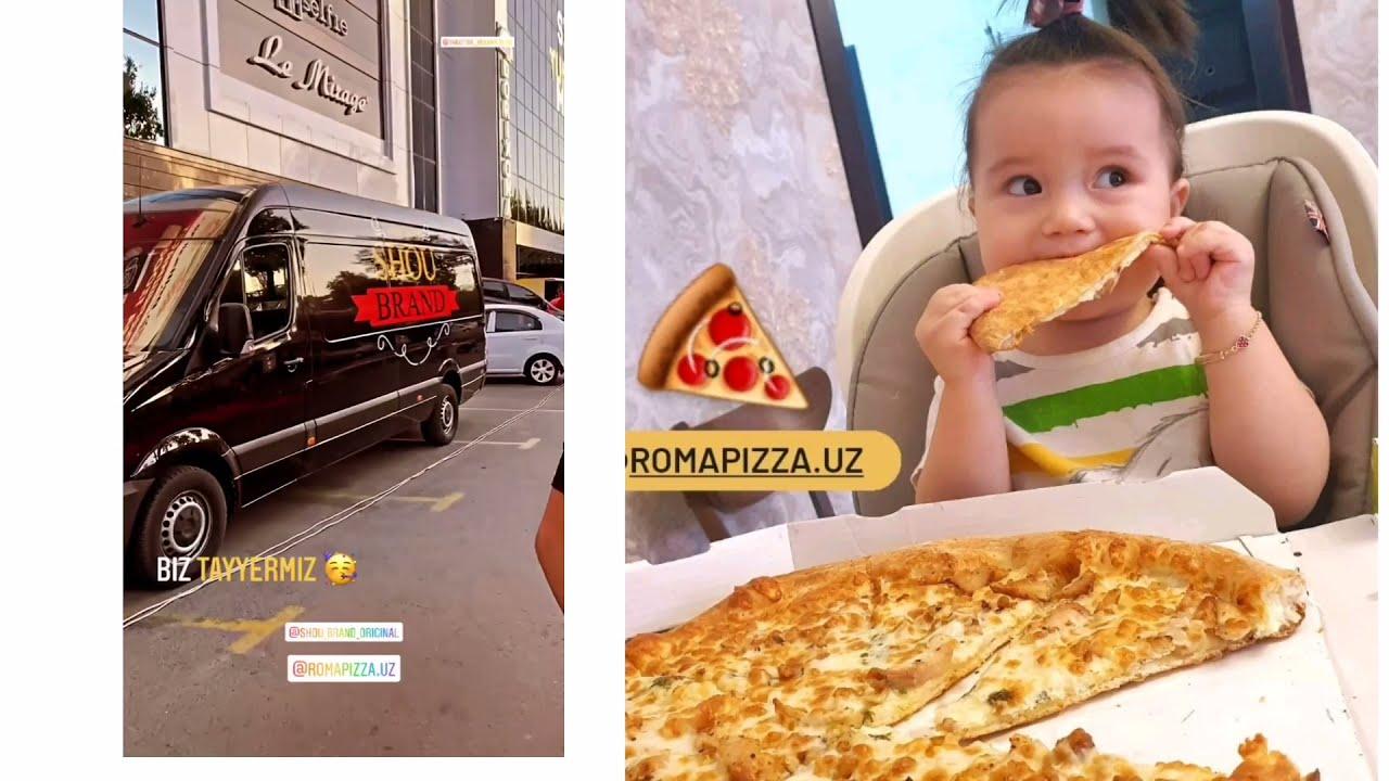 Shaxzoda Muxammedova turmush o'rtog'i Marat Xayrullaevich Roma Pizza ochlishida