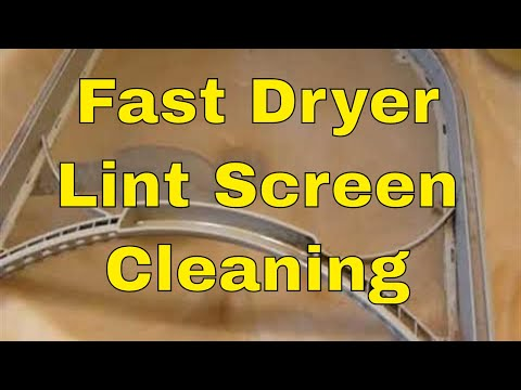 Cleaning off the DRYER Vent Lint Collector Screen - DO IT OFTEN