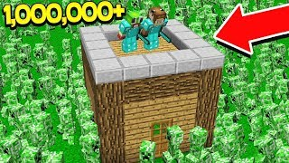 1,000,000 CREEPERS VS 2 YOUTUBERS! - MINECRAFT (With UnspeakableGaming)