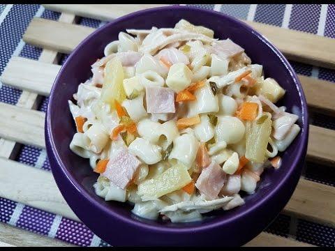 How to make Chicken Macaroni salad | Filipino Chicken Macaroni salad