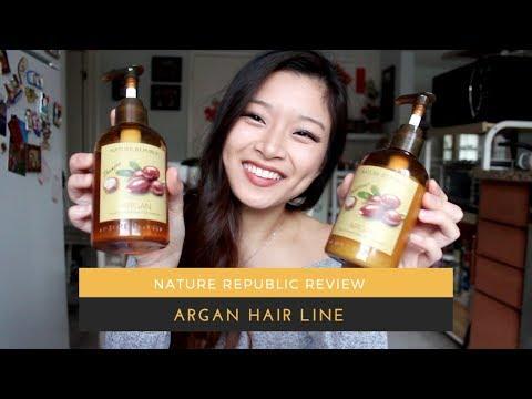 Katrina's Nature Republic Review   Argan Hair Line   SOFT SILKY SEXY HAIR