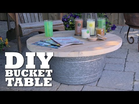 DIY Bucket Table