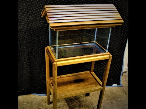 Woodworking Making a fish tank stand and lid with my son