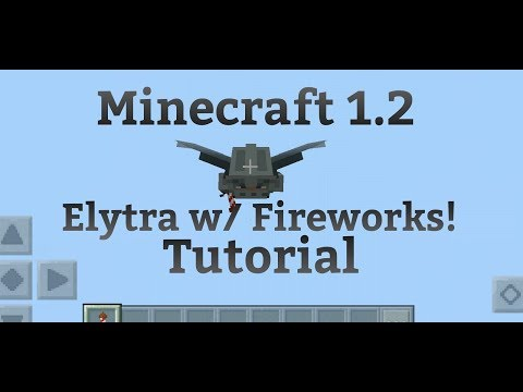 Minecraft PE 1.2 |How to fly using Fireworks IN MCPE |