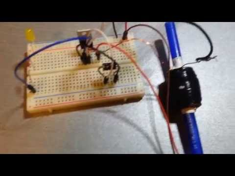 SCR Controlled Coilgun Trigger Circuit Diagram and Test Fire