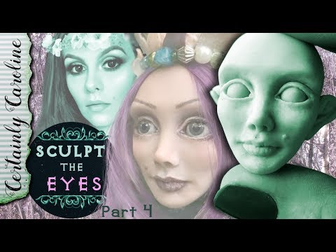 How to Sculpt the Eyes, Doll Portrait Sculpting P4, How to Sculpt with Polymer Clay Focus on Eyes
