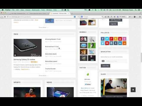 Goodnews Wordpress theme - Home page With Editor