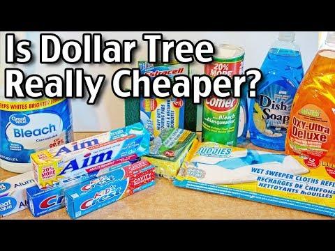Is Dollar Tree REALLY cheaper? Dollar Tree Vs. Walmart!
