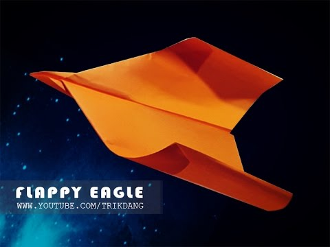 How to make a paper airplane: FLAPPING-WINGS paper plane | Flappy Eagle