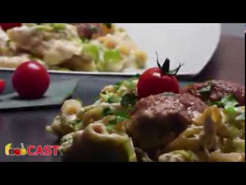 Tasty cheesy baked meatballs in leek sauce recipe by foodCAST