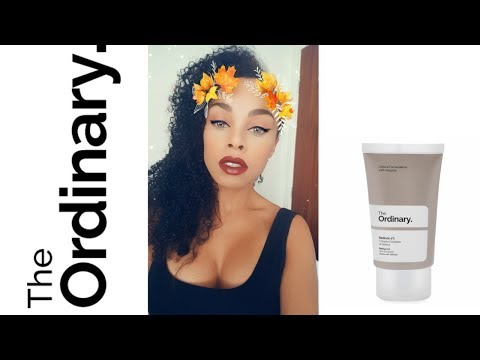 Morning and night routine on retinol 1% from The ordinary