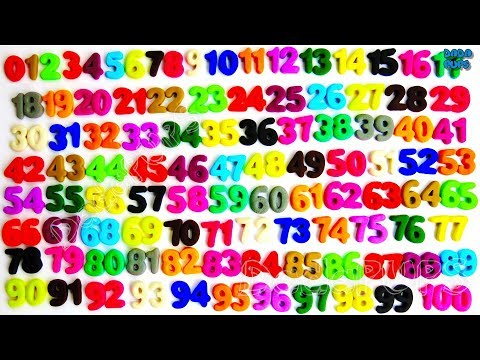 Learn To Count 0 to 100|Play Doh Numbers 1-100|Teach Numbers 1 to 100|Number to 100 COMPILATION