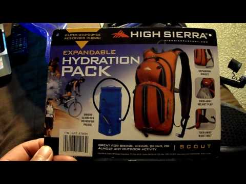 High Sierra Scout Hydration Pack from Costco review demonstration slidelock