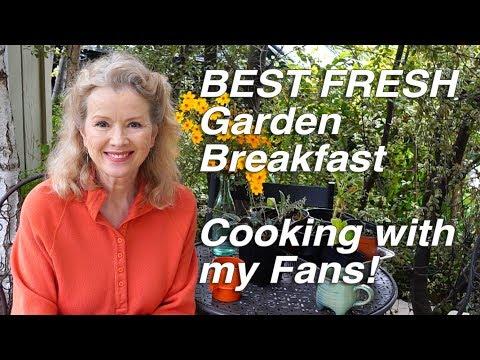 BEST FRESH Kitchen Garden Breakfast! | Gathering & Cooking with Fans Part 2 | Vlog