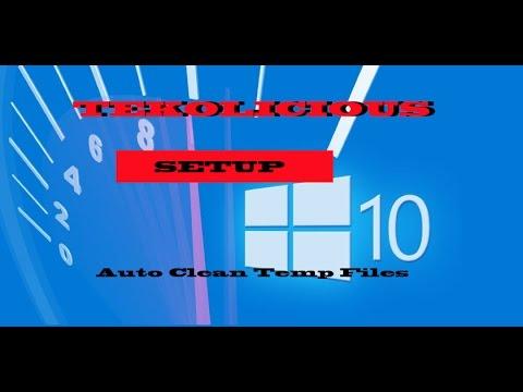 Auto clean Temp folder and files in Windows 10 task schedule