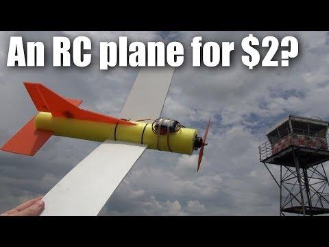 The $2 pool-noodle RC plane build and flight test (part 2)