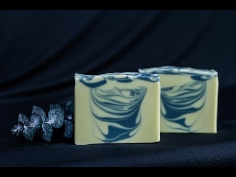 Natural Soap Color with Infused Oils - Hanger Swirl - Homemade Soap