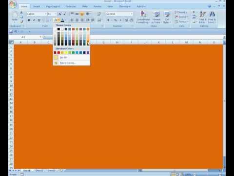 Change Workbook Background Colour