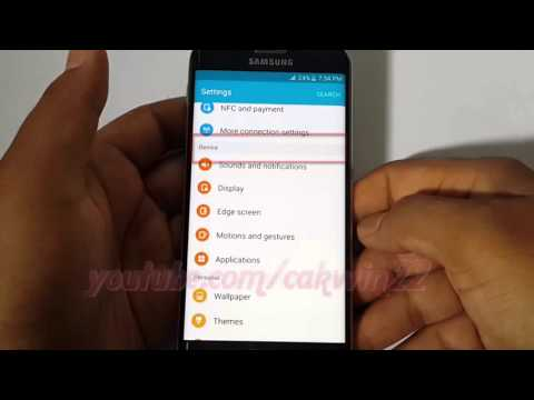 Android Lollipop : How to enable or disable vibrations in message notification Samsung Galaxy S6