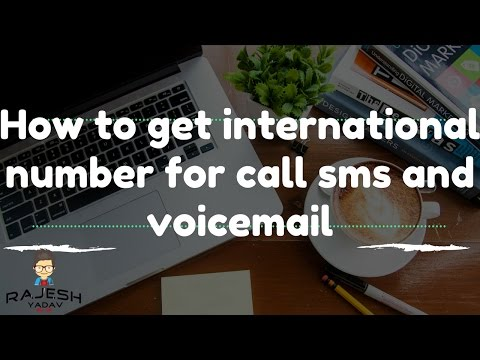 How to get international number for call sms and voicemail