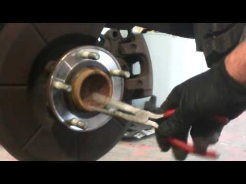 Rear brake pad replacement 2004 - 2013 Mazda 3 disc brakes Mazda3 Install Remove Replace