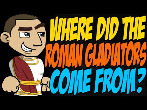Where Did the Roman Gladiators Come From?