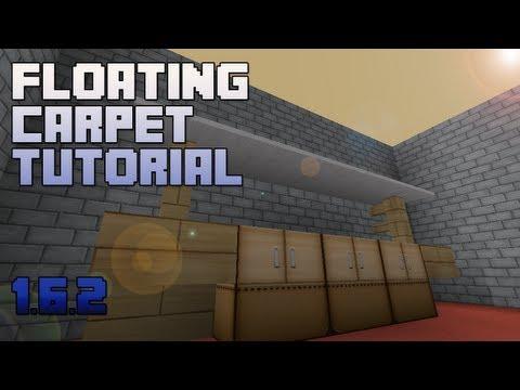 Minecraft :: Floating Carpet Tutorial / Shelf Design :: 1.6.2