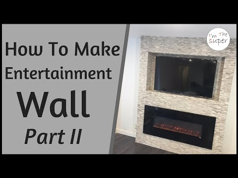 How To Build Entertainment Wall Part 2