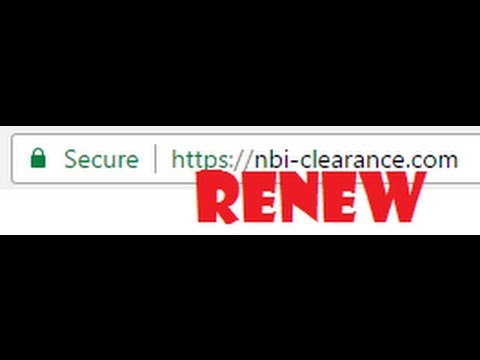 2017 Update: NBI CLEARANCE RENEWAL