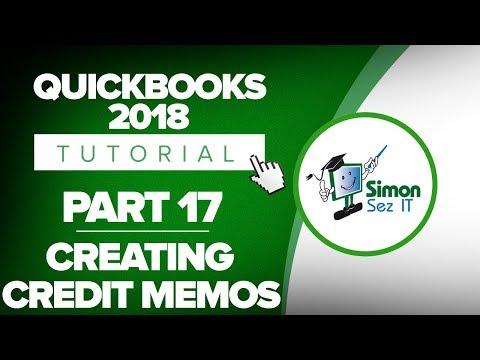 QuickBooks 2018 Training Tutorial Part 17: How to Create Credit Memos in QuickBooks