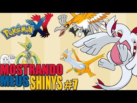 Pokémon Y - Mostrando Meus Pokémons Shiny #7 / LUGIA HO-OH DEOXYS E LATIAS SHINY!