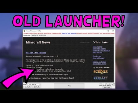 How To Use The Old Minecraft Launcher! *UPDATED* (MAY 2017) (EASY)