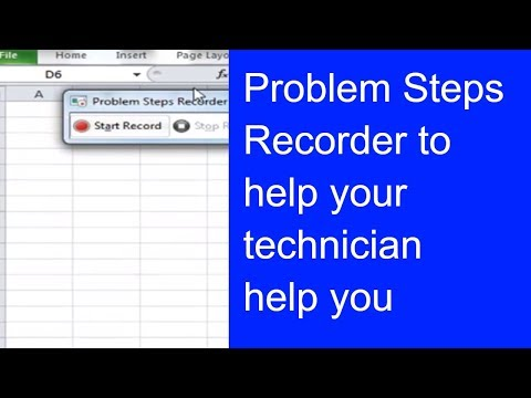 Problem Steps Recorder - get tech help easily