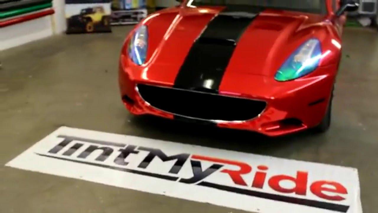 Tint My RIde - Ferrari Red Chrome Vinyl Wrap