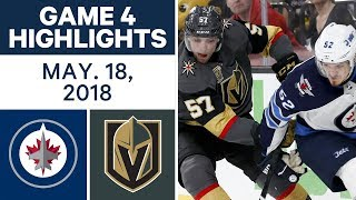 NHL Highlights | Jets vs. Golden Knights, Game 4 - May 18, 2018